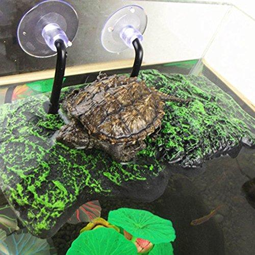 Turtle Floating Reptile Platform Green Aquarium Decorations