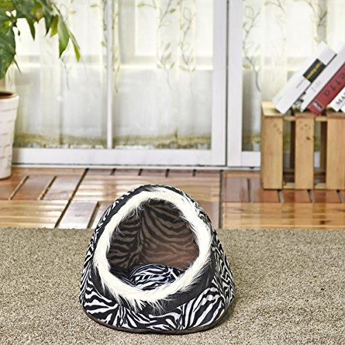 YHUISEN Pet Products Luxury Dog House Dog Bed Cat Cave Bed Dual Use Nest For Small Animal Puppies Rabbits Cats With Thicken Warmer Cushion 5 Styles ( PATTERN : 2 )