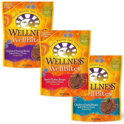 Wellness WellBites Soft & Chewy Dog Treats - 3 Flavors (8 oz. each) by Wellness Natural Pet Food