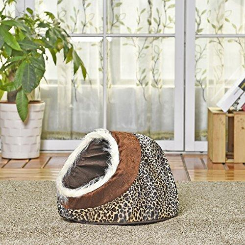 Yibin-pets, Pet Bed, Luxury Dog House Dog Bed Cat Cave Bed Dual Use Nest For Small Animal Puppies Rabbits Cats With Thicken Warmer Cushion 4 Styles (PATTERN : 1)