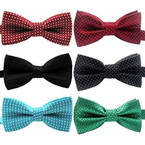 YOY Handcrafted Adorable Pet Bow Ties - 6-pack Adjustable Neck Tie 11.4