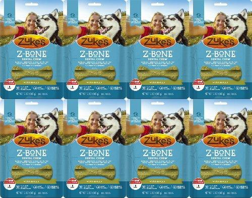 Zukes Z-Bones Edible Dental Chews Regular Apple Crisp 6lb 64ct(8x12oz)