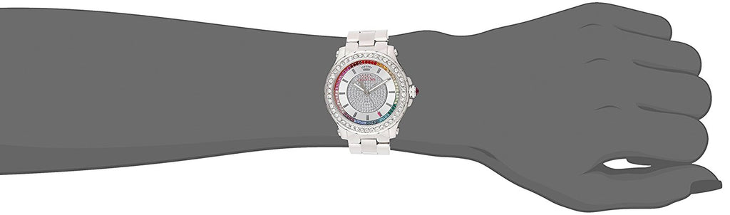 Juicy Couture Women's 1901237 Pedigree Analog Display Quartz Silver-Tone Watch