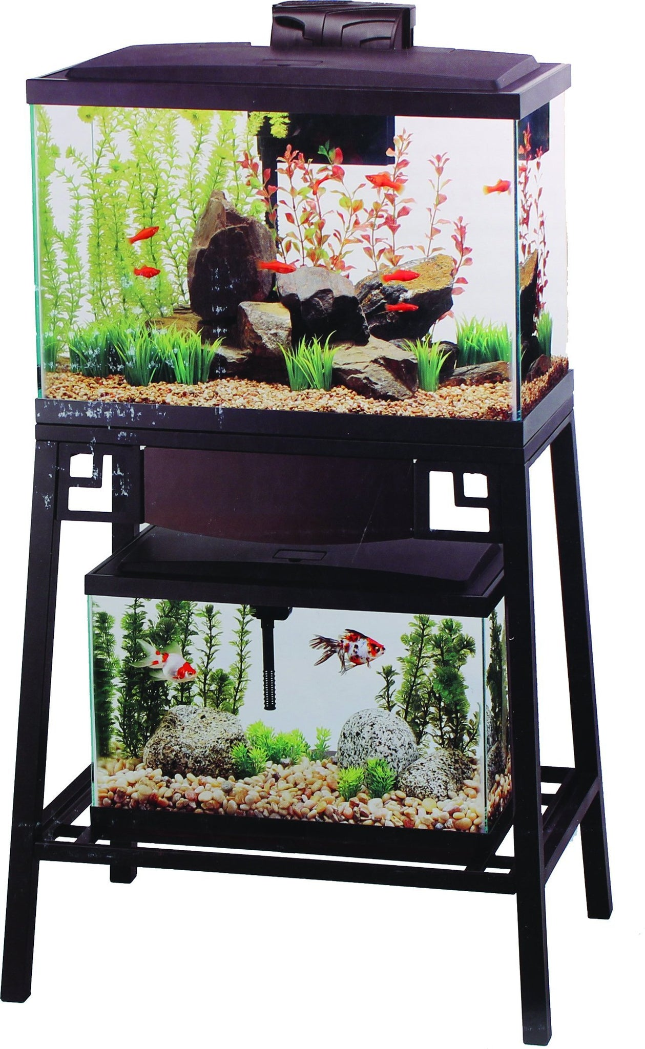 --Aqueon Forge Metal Aquarium Stand, 24 by 12-Inch, Black--