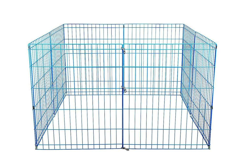 42 Tall Dog Playpen Crate Fence Pet Play Pen Exercise Cage -8 Panel- Blue,,KeeboVet Veterinary Ultrasound Equipment,KeeboVet Veterinary Ultrasound Equipment.