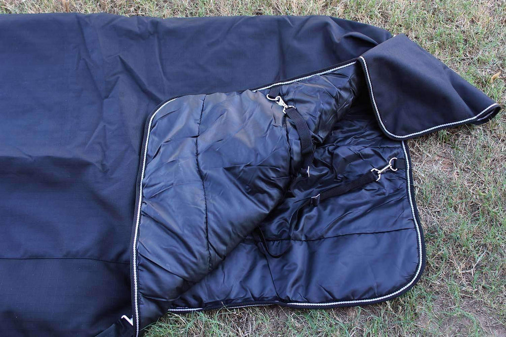 2100D Turnout Waterproof Horse WINTER BLANKET HEAVY WEIGHT Black 1003,,KeeboVet Veterinary Ultrasound Equipment,KeeboVet Veterinary Ultrasound Equipment.
