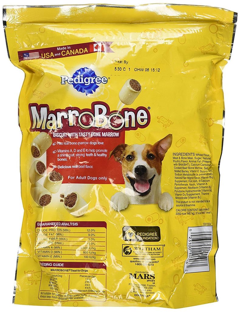 Pedigree MarroBone Dog Treat 1.5 pounds, Bundle of 2 Bags