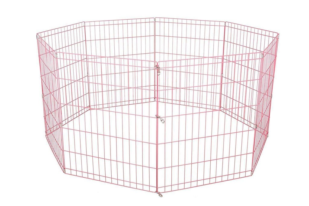 30 Tall Dog Pink Playpen Crate Fence Pet Kennel Play Pen Exercise Cage -8 Panel,,KeeboVet Veterinary Ultrasound Equipment,KeeboVet Veterinary Ultrasound Equipment.
