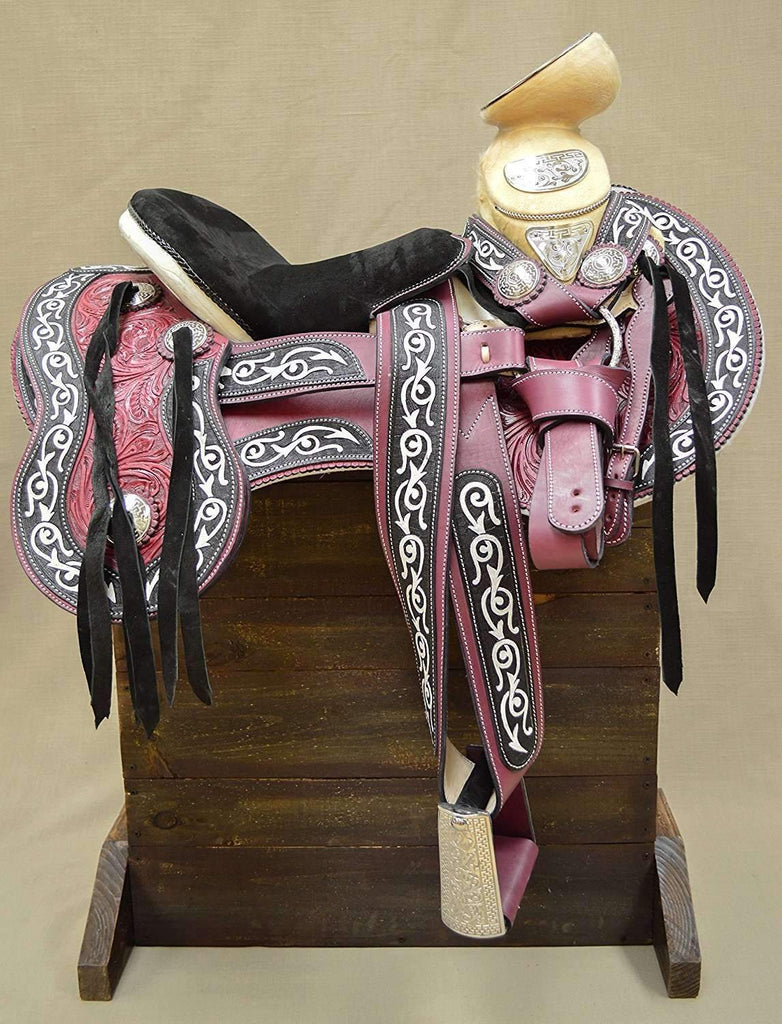 "15.5"" Charro Mexican Horse Saddle Silla Montura Charra,,KeeboVet Veterinary Ultrasound Equipment,KeeboVet Veterinary Ultrasound Equipment."