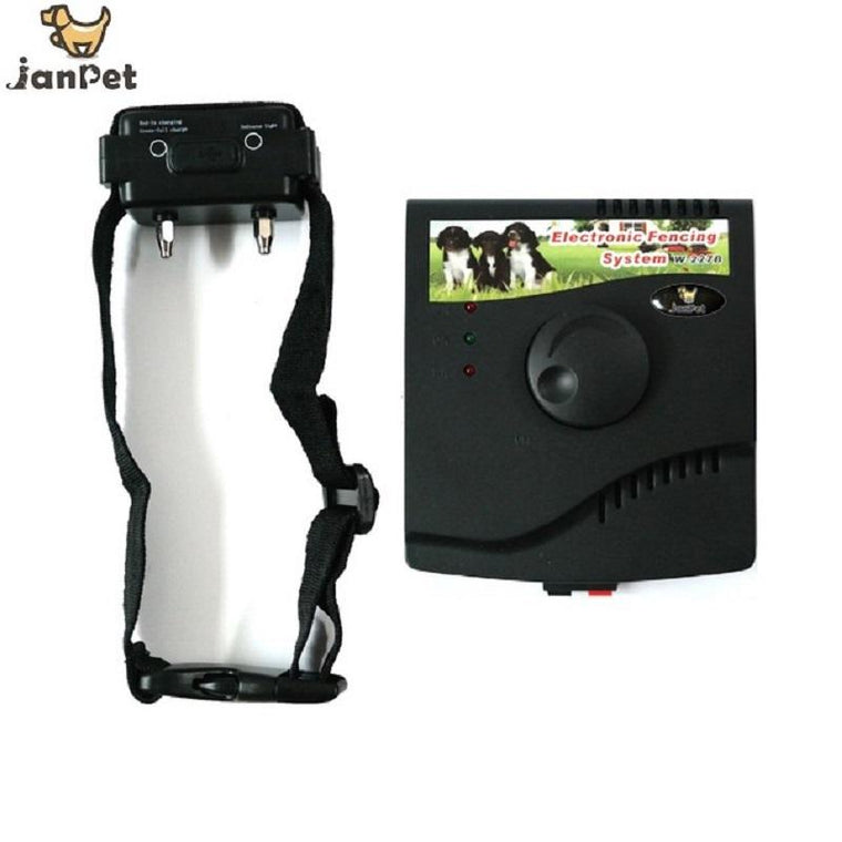 JANPET Invisible Electric DOG Fence Underground Pet Fencing Training System W-227B with Rechargeble receivers