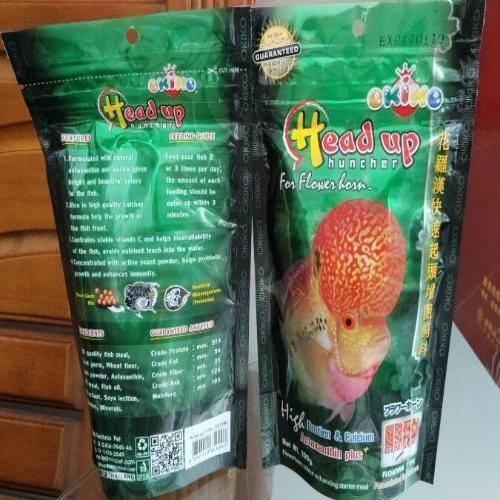 ORIGINAL OKIOK FLOWER HORN HEAD UP FORMULA FOOD 100G