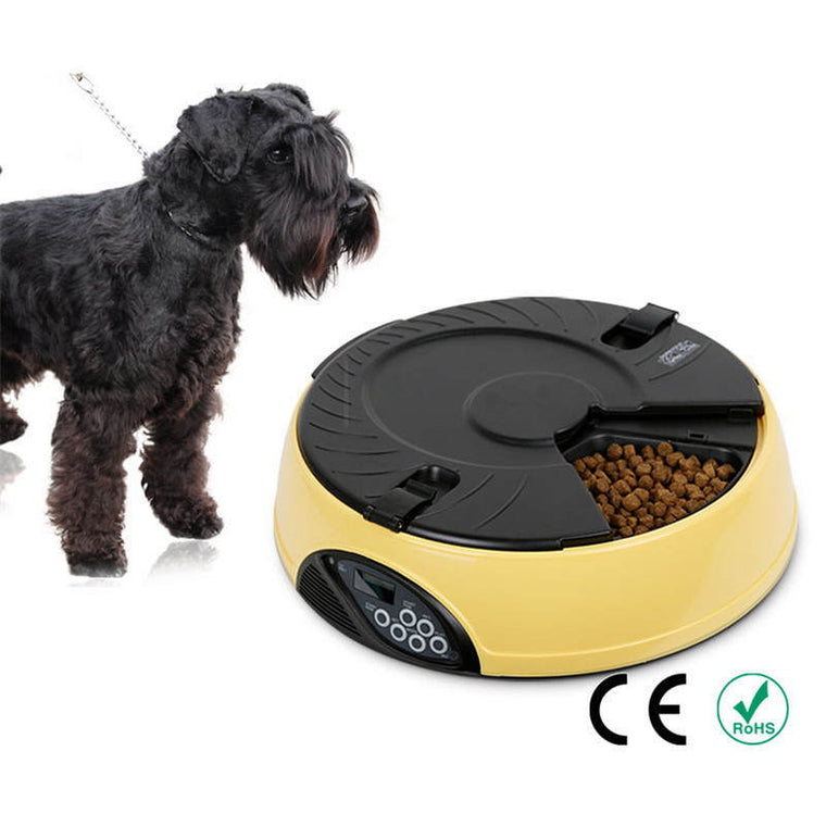 6 Meal Smart Automatic Pet Feeder LCD Display Dog Food Dispenser
