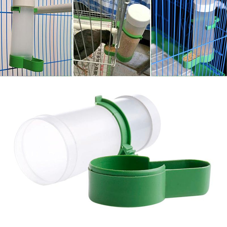 Pet Bird Drinker Food Feeder Waterer Clip for Aviary Cage Budgie Lovebirds