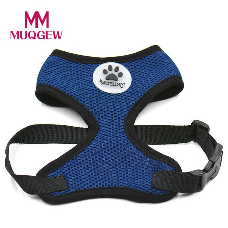 Pet dog vest Harness Soft Mesh cloth harnesses Small large dog cat Breathable Chest Straps Vest collars and leashes 2017 Summer