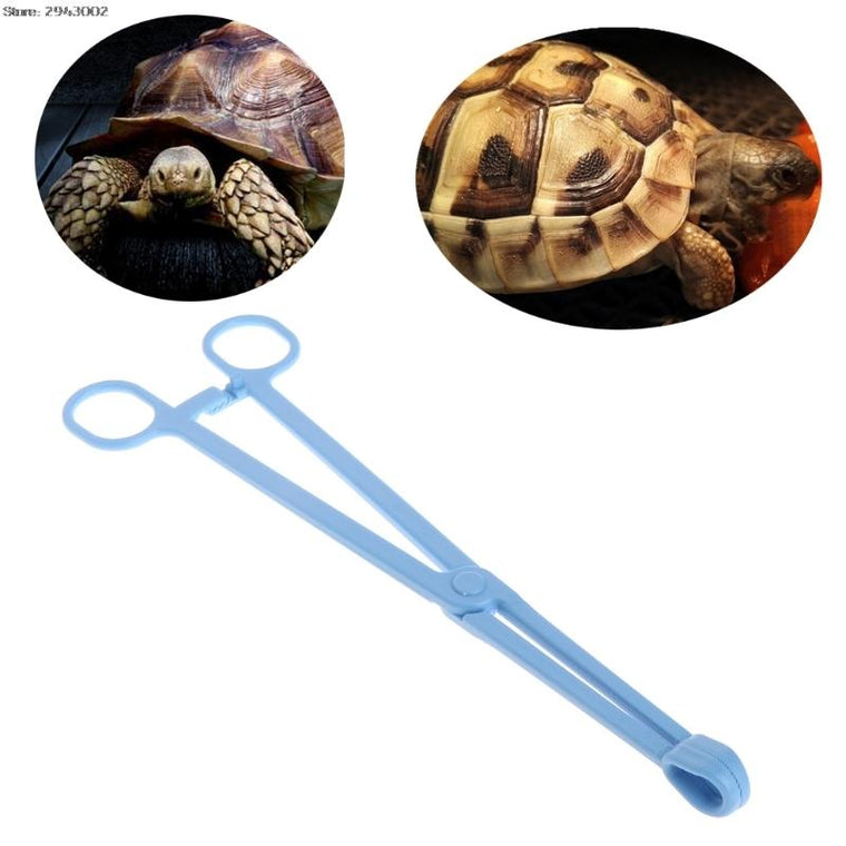 Reptile Terrarium Lizards Plastic Tongs Tweezers Pet Raising Feeding Tool Clip
