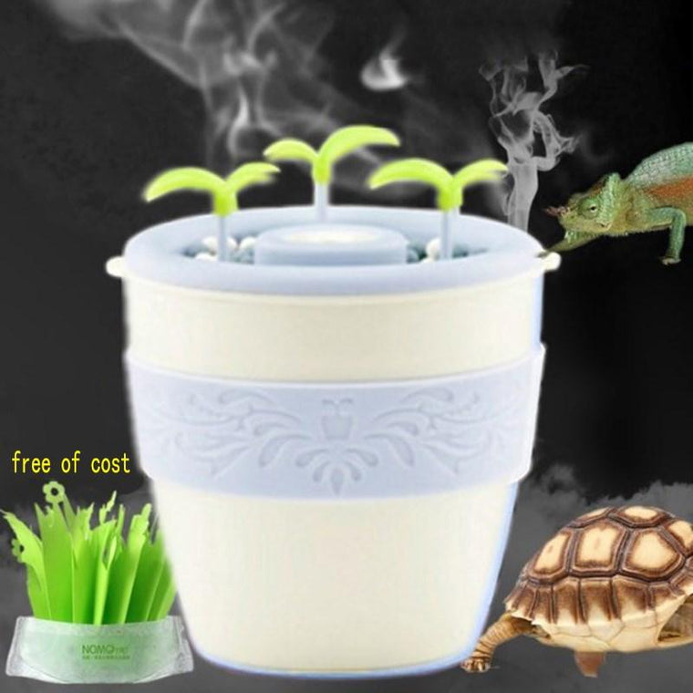 Reptiles Turtle Humidifier Moistening Box For Pet Rearing High Crown Chameleon Atomizer Wetting Silent Automatic Power Off