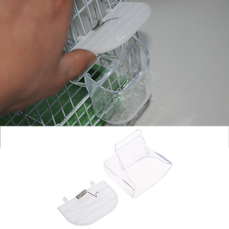 S-home Creative Bird Pet Food Feeder Waterer Hanging Aviary Cage Parrot Budgie Lovebird jun21