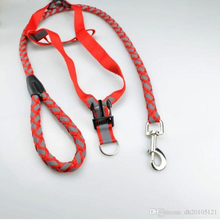 Set dog collars dog harnesses and dog leashes Nylon material 3 colors 3 sizes wholesale free shipping