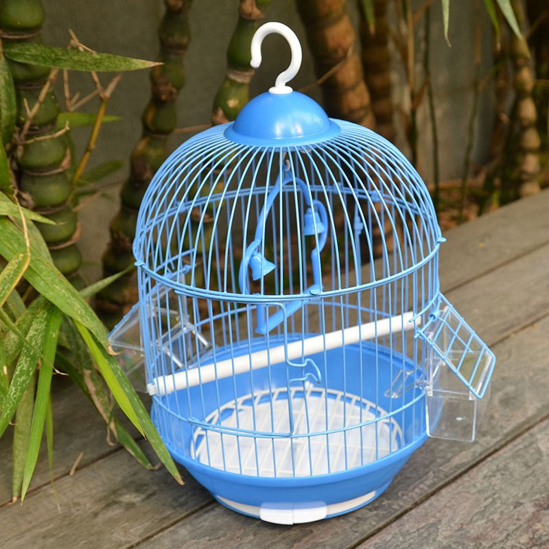 Small Bird Cage Round Pet Parrot Finch Hanging Birdcage Decorative