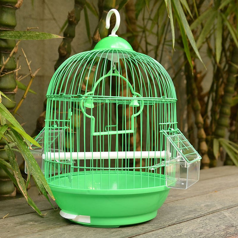 Small Bird Cage Round Pet Parrot Finch Hanging Birdcage Decorative Bird Cages Weddings Hamster Accessories Bird Nest 23*23*35cm