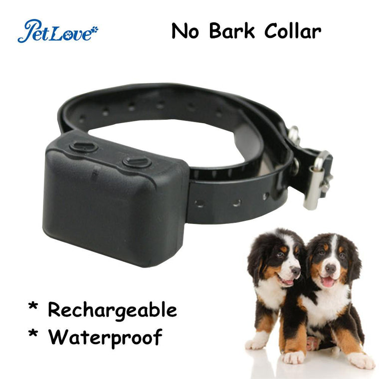Waterproof and Rechargeable Anti Bark Training Collar Automatic Static Shock Bark Stop Collar
