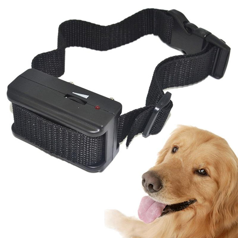 X-818 training collars for dogs Sound shock electronic anti bark control agility trainer stop barking black plastic