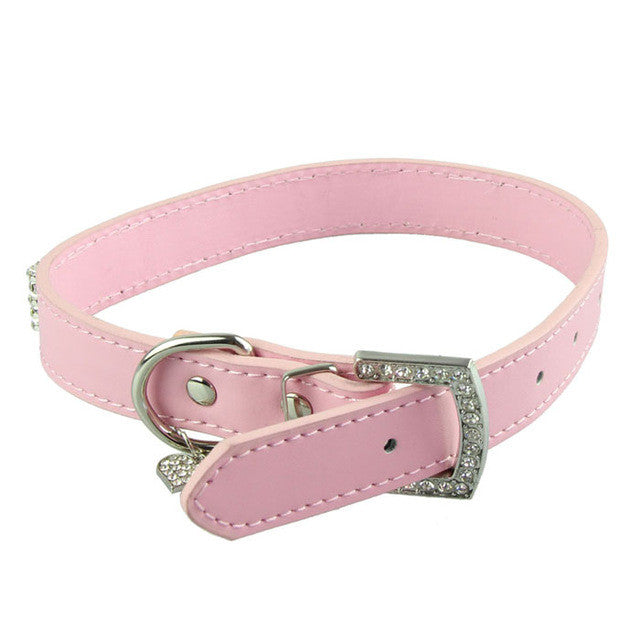 2016 Dog Collars and Leashes Bling Rhinestones Dog Collar Pets Collar Dog Neck Pet Supplies
