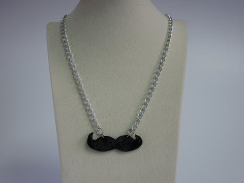 Movember Mustache Necklace-Medium