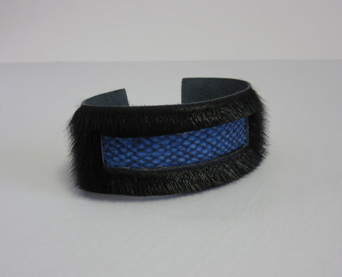 Black w/ Blue Fish Leather