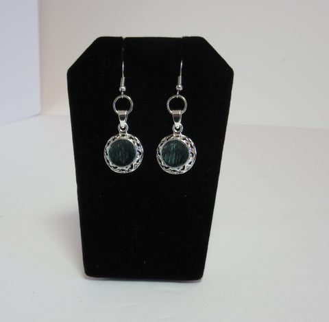 Elegant Green Earrings