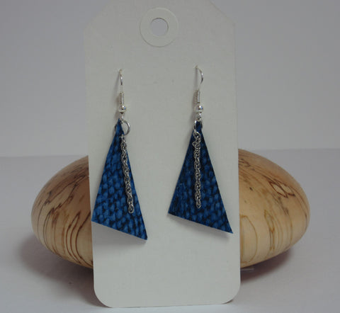 Blue Triangles Earrings