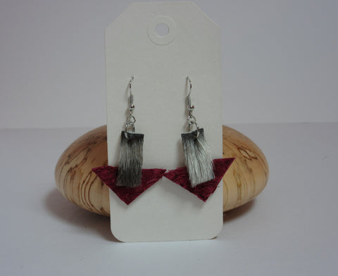 Natural & Pink Earrings