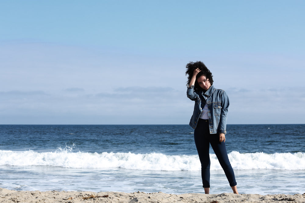 womens Denim Jacket and skinny Jeans made in USA  with sustainable Denim