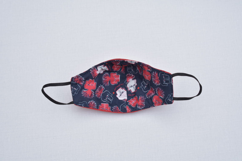 Lined Face Mask (RED)