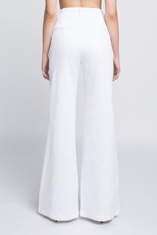 FAITH - Wide Leg Trouser Jean in White - Sagjol