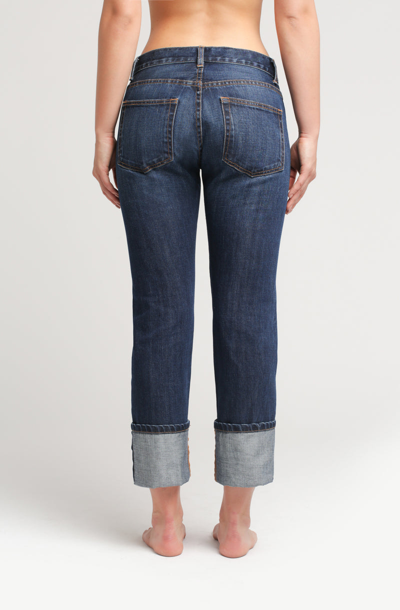 Selvedge Denim Boyfriend Jeans - Sagjol