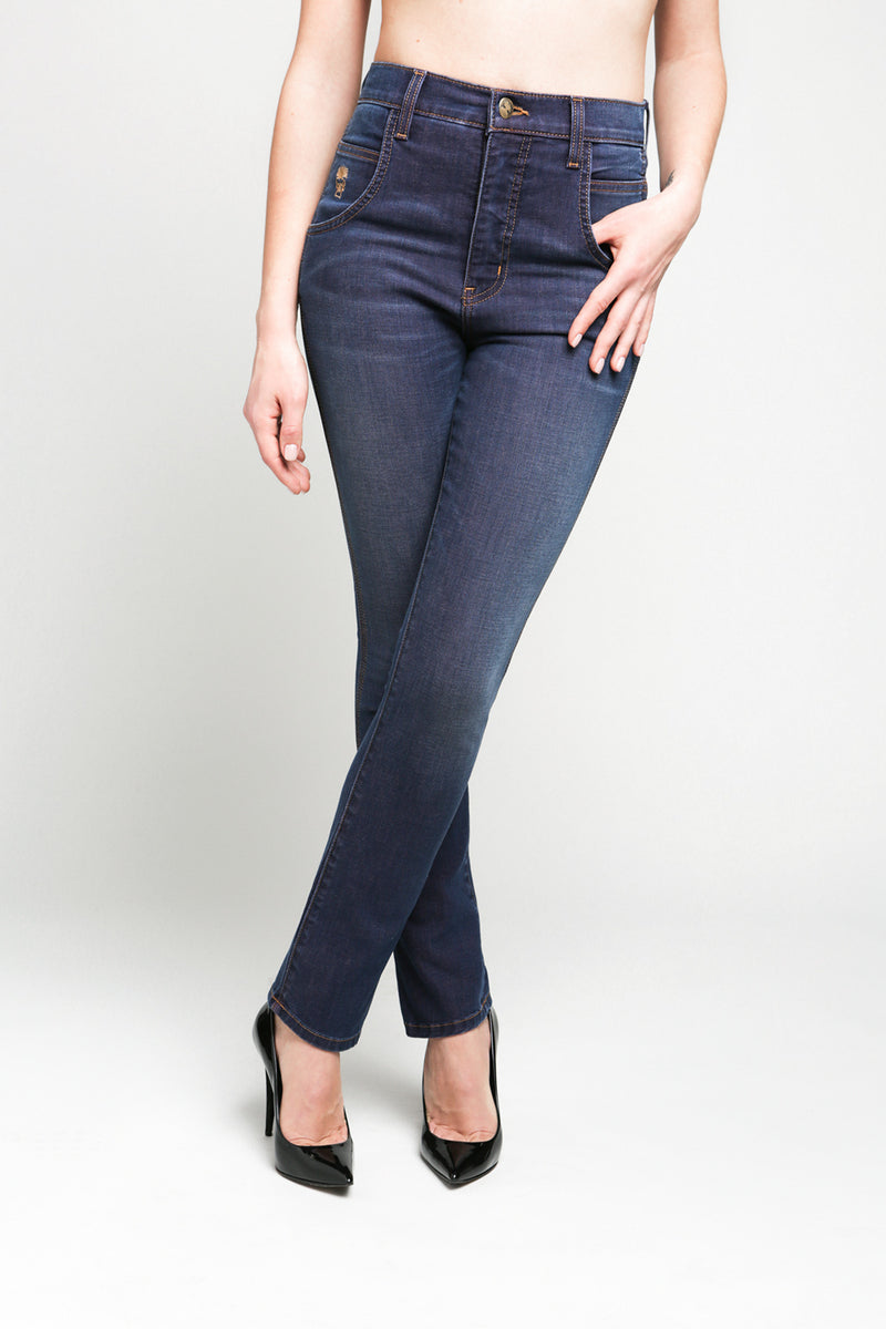 JESSIE - High Waisted Straight Leg Jean