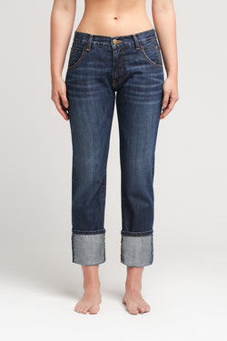 Selvedge Boy Jean with Turn Up
