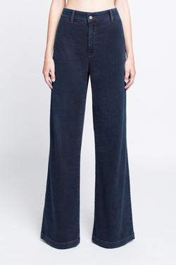 FAITH - Wide Leg Trouser Jean in Midnight Blue