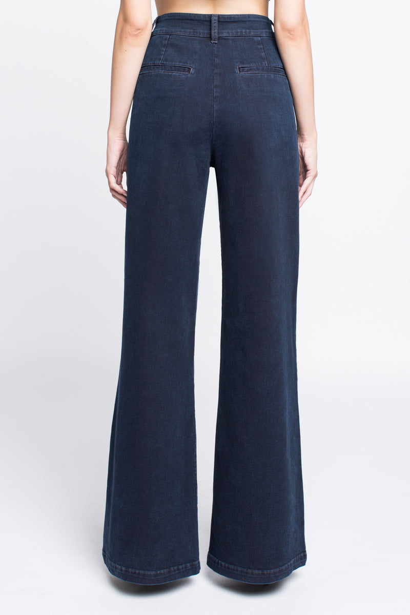 Wide Leg Trouser Jean for women in Midnight Blue - Sagjol