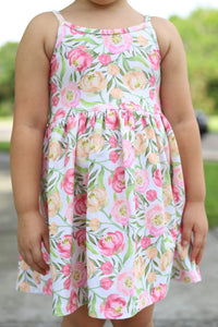 Summer Floral Knit Tank Dress