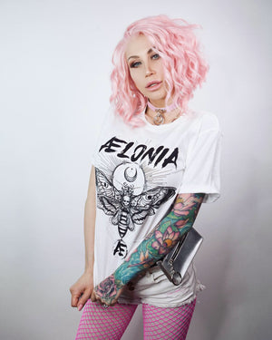 Aelonia Moon Power Tee (Unisex White)