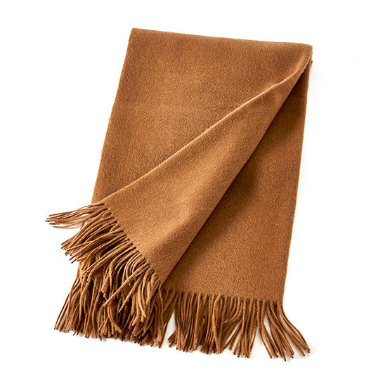 WOOL/CASHMERE THROW - ACORN