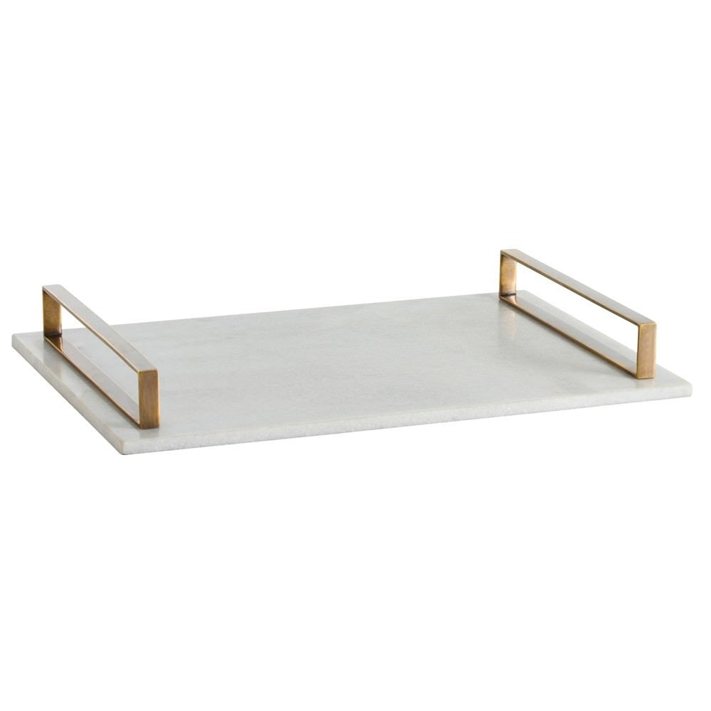 Exton White Marble Tray from Maison Luxe