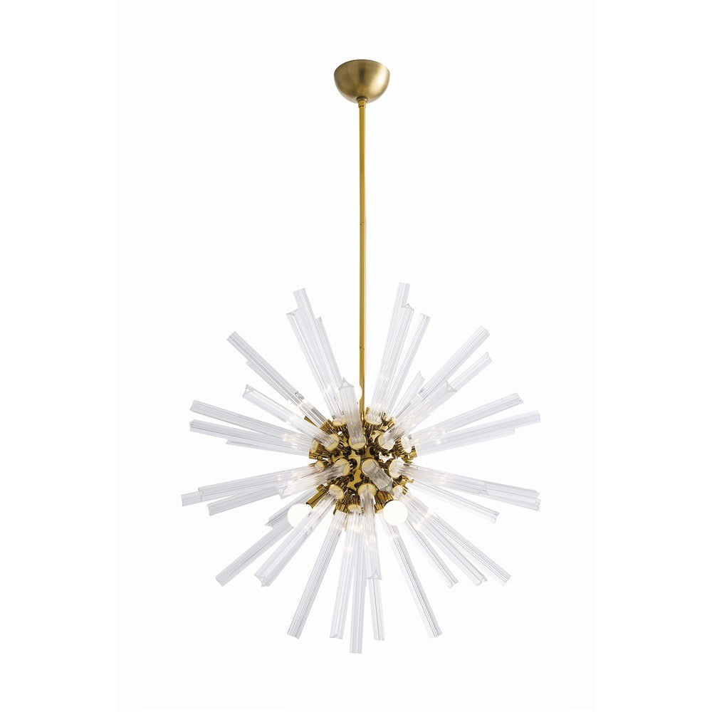 Small Hanley Chandelier in Antique Brass from Maison Luxe