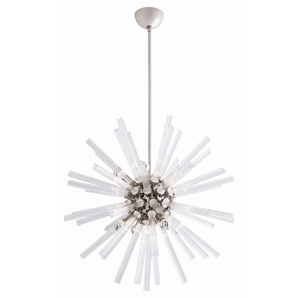 Small Hanley Chandelier in Nickel from Maison Luxe