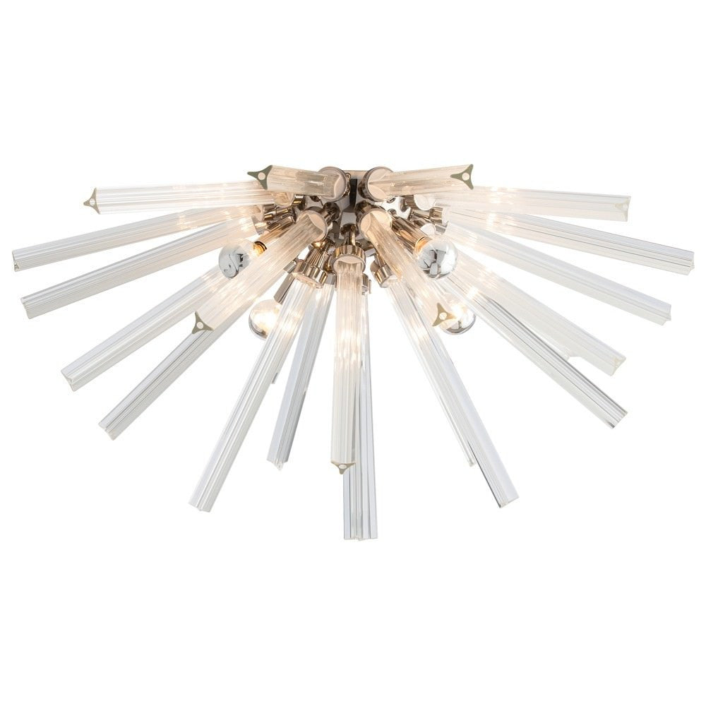 Hanley Flush Mount Chandelier in Nickel from Maison Luxe