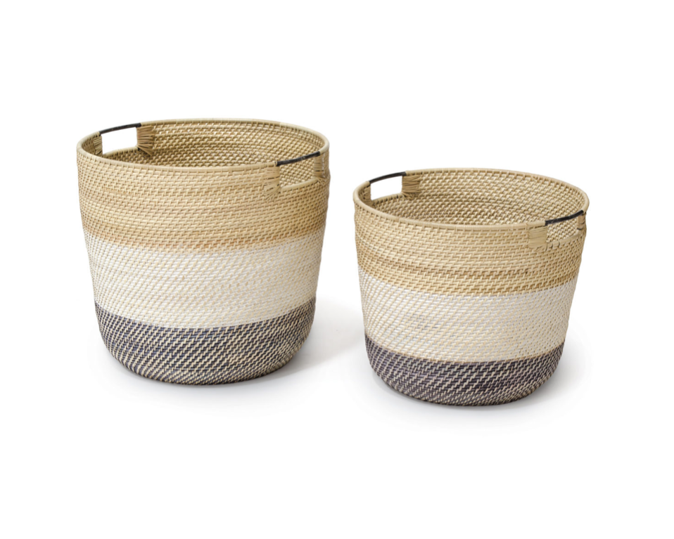 BIXBY BASKETS, SET OF 2