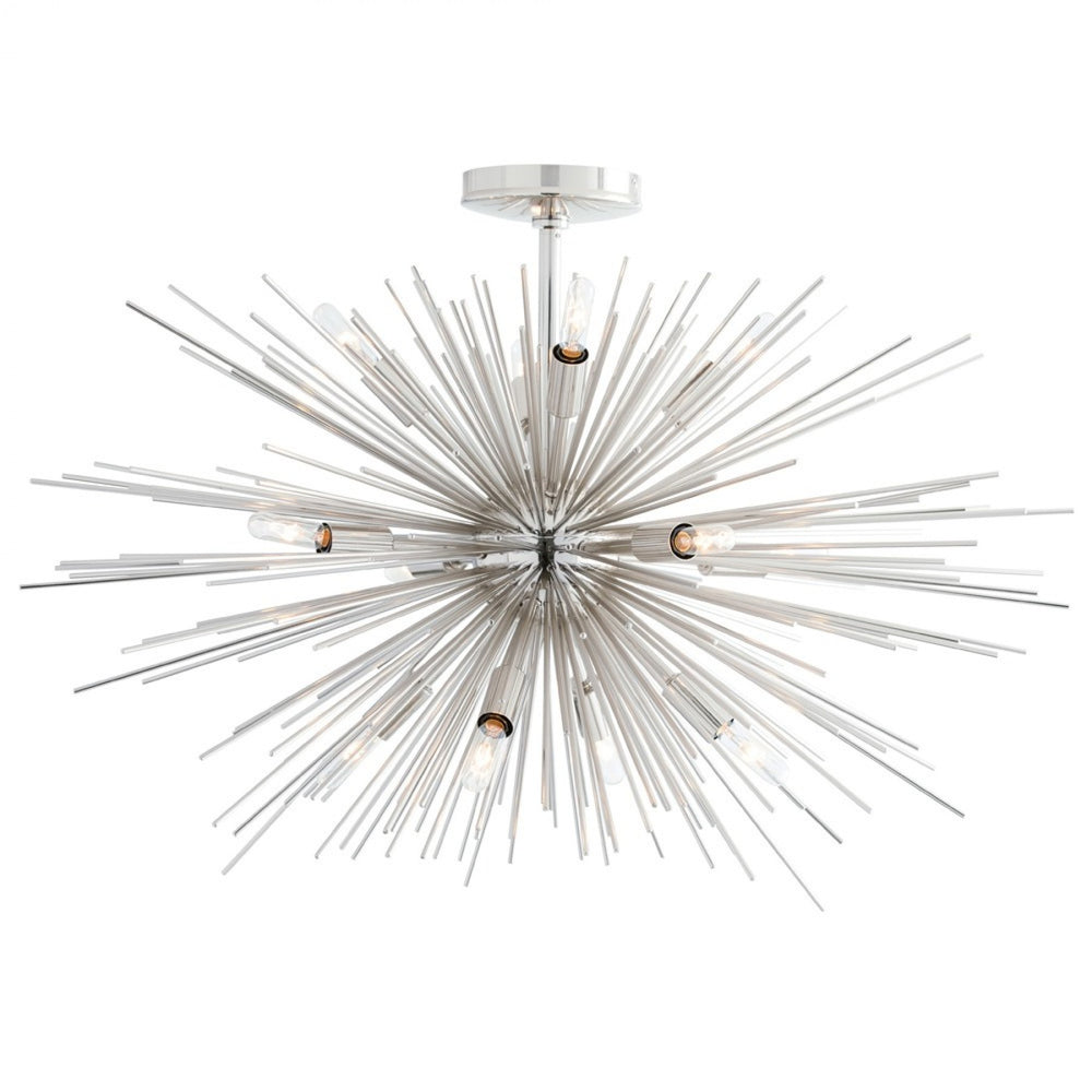Zanadoo Fixed Chandelier in Nickel from Maison Luxe