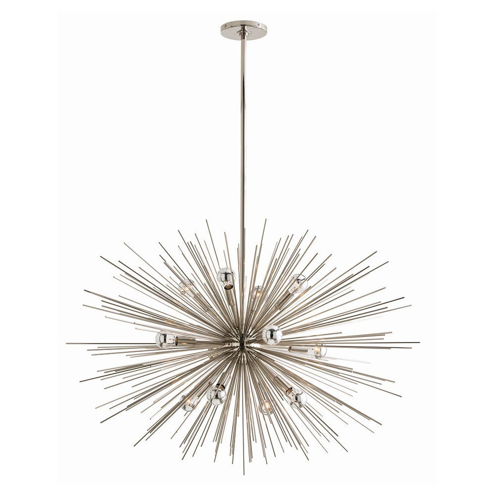 Large Zanadoo Chandelier in Nickel from Maison Luxe